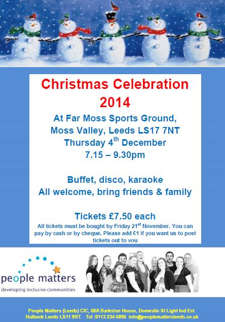 Xmas 2014 celebration poster